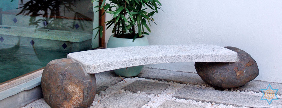 Auryaj granite stone carvings and sculptures of benches are custom designed
